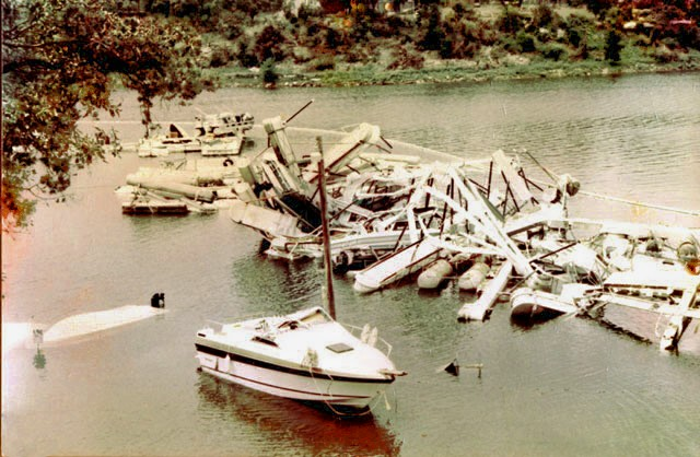 The marina after a tornado