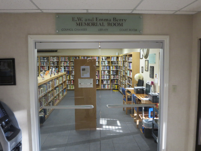 Entrance to the library